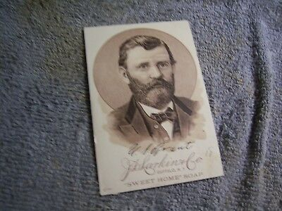 Sweet Home Soap Trade Card 18th  President Ulysses S. Grant 1800's Vintage