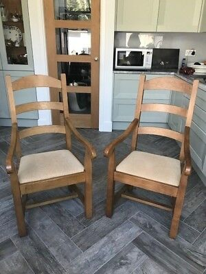 Oak 'Bergerac' French carver chairs