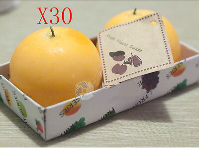 Christmas Oranges-Shaped Smoke-Free Scented Candles Wholesale Lots 30 PCS