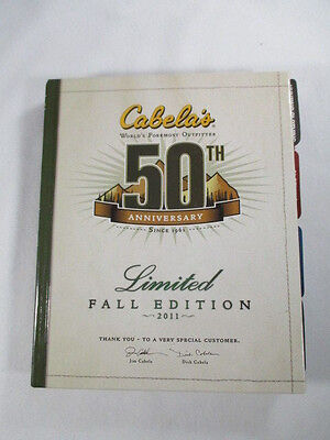 Cabelas Fall 2011 Limited 50th Anniversary Hardcover Catalog Nice Collectible