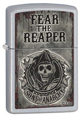Zippo Lighter - Sons of Anarchy Fear the Reaper Satin Chrome