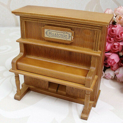 "* New Creative Piano Wood ""Castle in the Sky"" Music Box Birthday Gift."