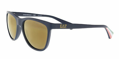 1cddbb65440 Emporio Armani Unisex Squared Sunglasses EA4053 53686H Navy Frame Brown Lens