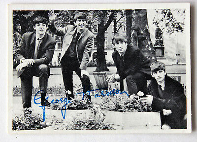Carte photo image 1964 The Beatles Georges Harisson N°1 TCG