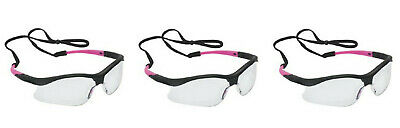195a255f2d0b Jackson Safety 38478 V30 Nemesis Small Safety Glasses Clear Anti-Fog  Black Pink