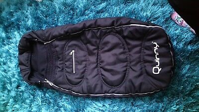 quinny footmuff black very good condition