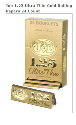 Job French White Lights 12 Packs//24 Per Pack Box Rolling Papers 1 1//4*1.25