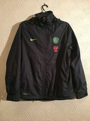 *Rare* Celtic FC Nike Storm Fit Jacket Season 2010-2011 Tennents Player Issue