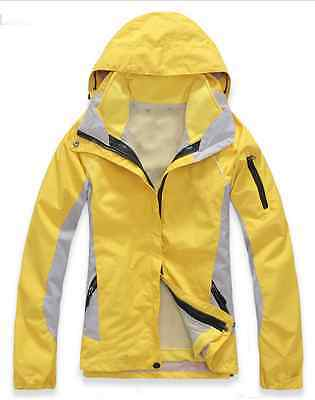 Women Lady Hiking Camping Bush Walking Waterproof Breathable Jacket S M L XL XXL