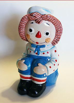 RAGGEDY ANDY SAILOR PAINTED BOOKEND 1970 Vintage Bobbs Merrill Co Ann Japan doll
