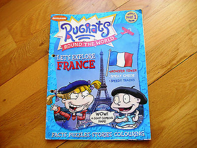RUGRATS ROUND THE WORLD issue 1 2002, explore France, Nickelodeon, v rare