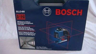 Bosch GLL-3-80 - 360° Three-Plane Leveling and Alignment-Line Laser