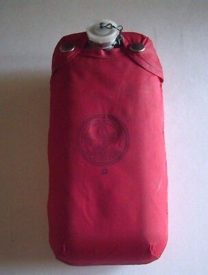 Vintage Boy Scouts Of America Regal Aluminum Canteen With Red Bsa Slip Cover.