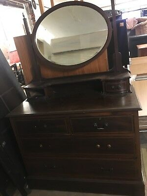 Antique Dressing Table Chest Of Drawers Edwardian Victorian?