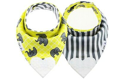 Baby Bandana Reversible Drool/Dribble Bib with Silicone Teether Boy/Girl (1pack)