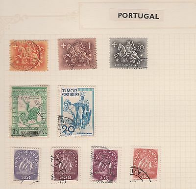 PORTUGAL Timor, Mocambique, etc  Old Book Pages, As Per Scan, Removed to send #