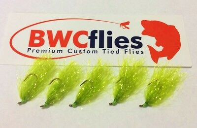 BWCFlies Weed Fly 5 Pack Size 8 Bright For Luderick