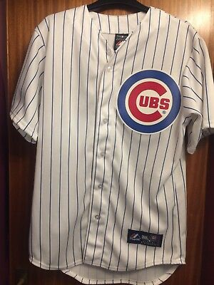 Chicago Cubs Majestic Athletic shirt / jersey blue and white, men's  small