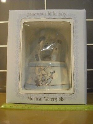 Precious Little Boy Musical Water Globe Little Miracles Birth / Christening Gift