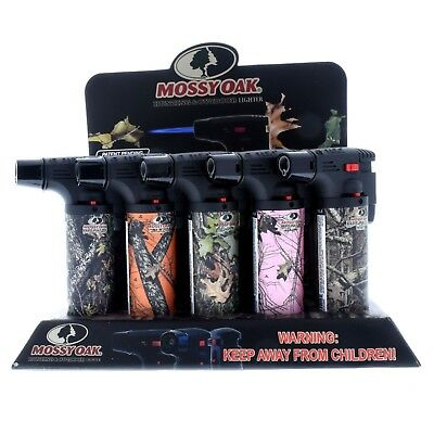 Mossy Oak Jet Gun Torch Lighter Windproof Refillable  Butane PT101MOK (15 pack)