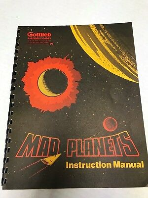 Mad Planets Gottlieb Original Arcade Game Owners Manual Schematics USED