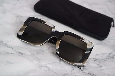 NEW Celine CL 41094/S Oversized Square Black Multicolor Marble Sunglasses