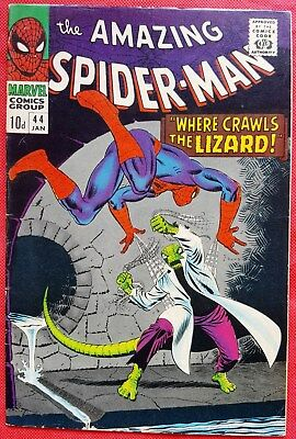 Spider-Man 44 Marvel Silver Age 1967 2nd app of the Lizard