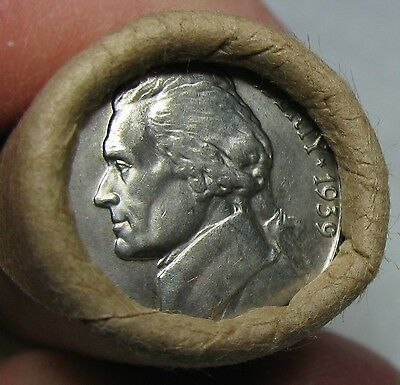 1939 P Obw Original Bank Wrapped Roll Bu Uncirculated Jefferson Nickels