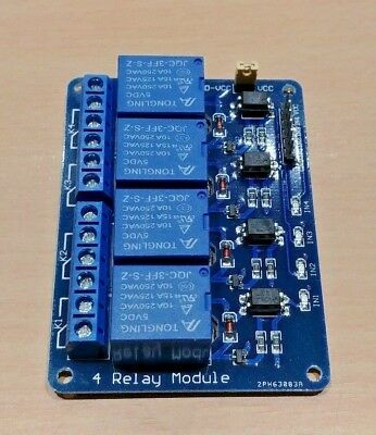5X 5V 4 Channel Relay Shield Module Optocoupler for PIC AVR DSP Arduino ARM 4F5