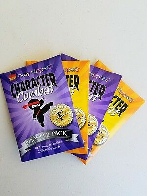 Busy Nippers Character Combat - 4 x Booster Packs (1st Edn) - Orange/Purple