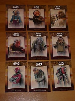 Star Wars The FORCE AWAKENS SERIES 2 MAZ 'S CASTLE Sub Set OF 9 TOPPS 2016 MINT