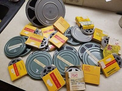 VINTAGE 8MM HOME MOVIES FROM THE 1960s - LOT OF 20 KODACHROME & REELS