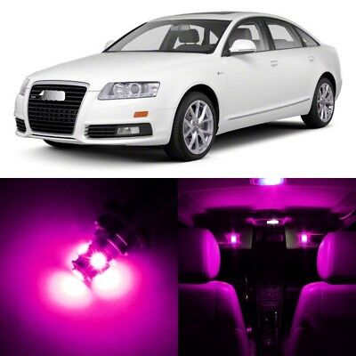 20 x Error Free PINK Interior LED Lights Package For 2005- 2011 Audi A6 S6 +TOOL