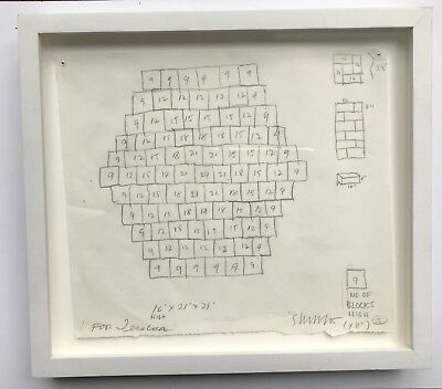 Sol LeWitt, Drawing- Untitled (Study for Cinder Block Sculpture), 2005 Signed