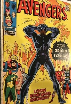 Marvel Comics THE AVENGERS #87 THE ORIGIN OF THE BLACK PANTHER T'CHALLA