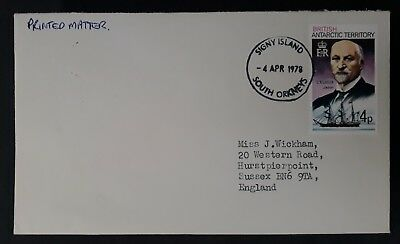 1978 British Antarctic Terr. Cover ties 4p stamp canc Signy Island Sth Orkneys