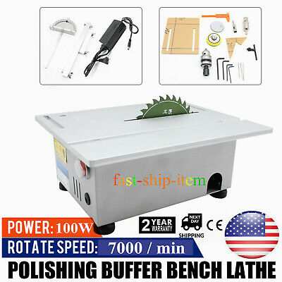 Multifunction Table Saw Woodworking Lathe Electric Polisher Grinder Cutting Tool