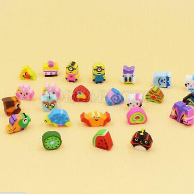 50pcs Animals Cartoon Number Rubber Pencil Eraser For Kids Stationery Gifts