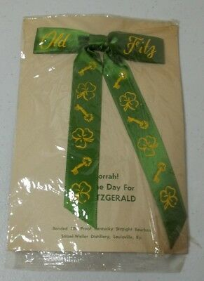 St Patrick's Day Tie Old Fitzgerald Bourbon Advertising Tie