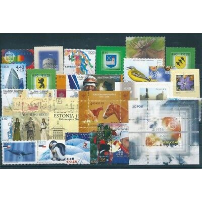 2006 Estonia Eesti Year Complete 28 Values And 4 Bf New Mnh Mf40698