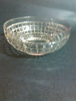 HEISEY GLASS SQUARECUT BOWL,  EARLY 20th century..
