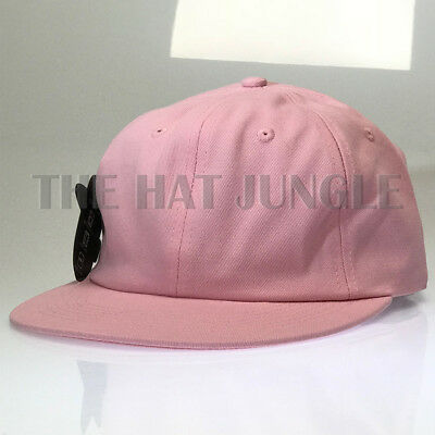 64a39e0b BABY PINK PLAIN Unstructured Dad Hat Buckle Strap Cap Flat Bill Low Profile