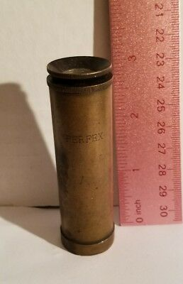 Vintage Perfex Brass German Mini Monocular/telescope