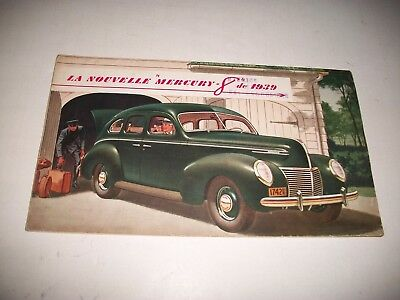 1939 Mercury Canadian Sales Brochure Rare French Language Issue  Cmystor4More