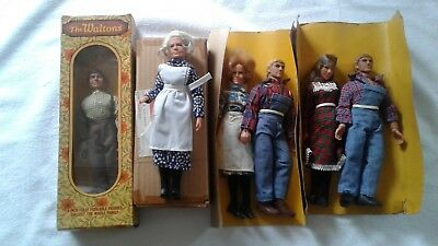 MEGO THE WALTONS Figures x 6 1974 great lot. Vintage and original.
