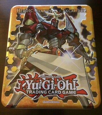 2012 Yugioh! Collectible Tin Only featuring HEROIC CHAMPION - EXCALIBUR Storage