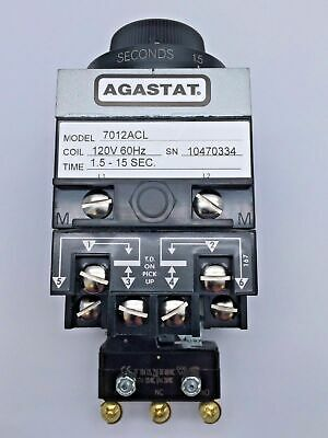 AGASTAT 7012ACL Industrial Electro Pneumatic Timing Relay 120V 60Hz Coil Ser7000