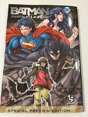 Loot Anime Exclusive Batman and The Justice League Vol. 1 Manga & Poster DC