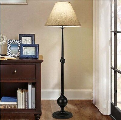European Black Iron Height 1590MM Base Width 280MM 1 Light Creative Floor Lamp *