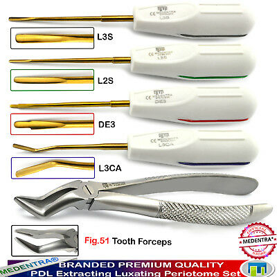 Dental Luxating Pdl Periotomes Root Extracting Tooth Forceps Fig.51 Surgical Set